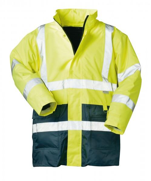 Wetterschutzjacke mit Futter Warnfarben