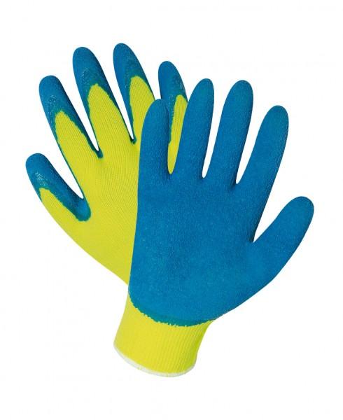 Latexhandschuh blau/gelb